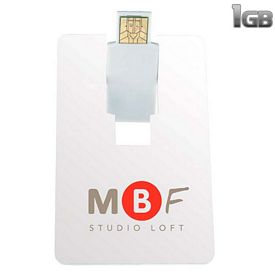 Promotional 1 GB Flip Card USB 2.0 Flash Drive