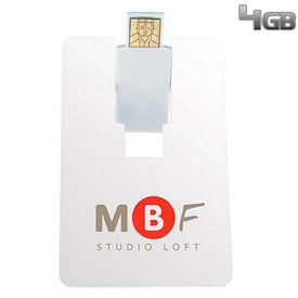 Promotional 4 GB Flip Card USB 2.0 Flash Drive