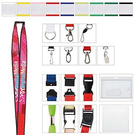 Promotional 3/4 Polyester Lanyard with Ribbon (Heat Transfer)
