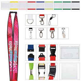 Promotional 1 Polyester Lanyard with Ribbon (Heat Transfer)
