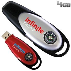 Promotional 4 GB Compass USB 2.0 Flash Drive