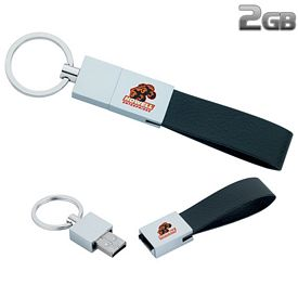 Promotional 2 GB Leather Loop USB 2.0 Flash Drive
