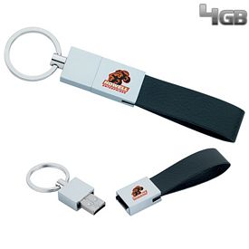 Promotional 4 GB Leather Loop USB 2.0 Flash Drive