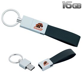 Promotional 16 GB Leather Loop USB 2.0 Flash Drive