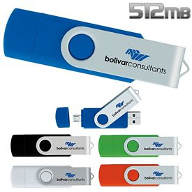 Promotional 512 MB On The Go USB 2.0 Flash Drive