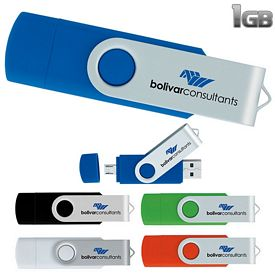 Promotional 1GB On The Go USB 2.0 Flash Drive