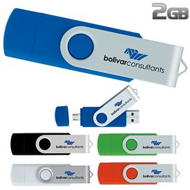 Promotional 2 GB On The Go USB 2.0 Flash Drive
