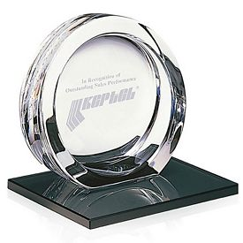 Promotional Jaffa High Tech Award on Black Glass Base Large