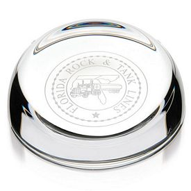 Promotional Jaffa Clear Slant-Top Paperweight