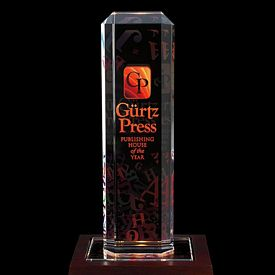 Promotional Jaffa Vertical Highlight Award with Lighted Base