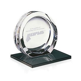 Promotional Jaffa High Tech Award on Black Glass Base Small