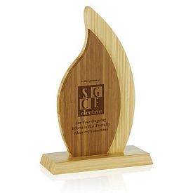 Promotional Jaffa Double Flame Bamboo Award