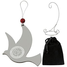 Promotional Silver Dove Ornament