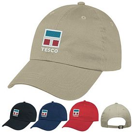Promotional Natural Brushed Twill Cap