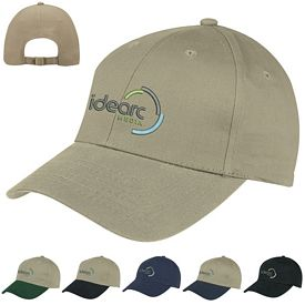 Promotional 6-Panel Brushed Twill Cap