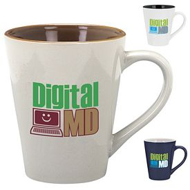 Promotional 14 oz. Designer Two-Tone Cafe Mug