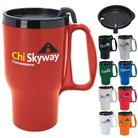 Promotional 18 oz. Budget Traveler Mug with Slider Lid