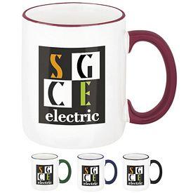 Promotional 12 oz. Two-Tone Rim Coffee Mug