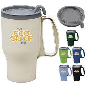 Promotional 18 oz. Plastic Handle Traveler Mug