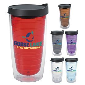 Promotional 16 oz. Color Splash Tumbler with Lid