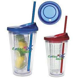 Promotional 18 oz. Fruit Infusion Plastic Tumbler
