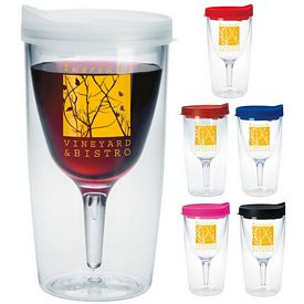 Promotional 10 oz. Vino2Go Travel Wine Glass Tumbler