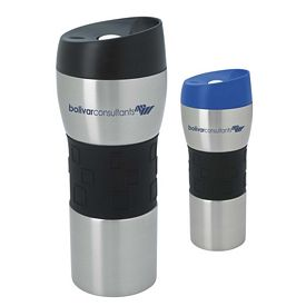 Promotional 16 oz. Stainless Tumbler with Mega Grip