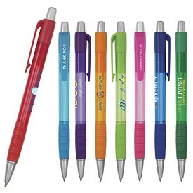 Promotional Element Translucent Grip Pen