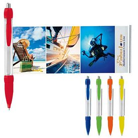 Promotional Translucent Colored Banner Pen