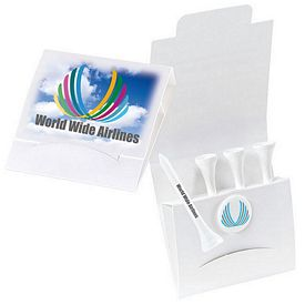 Promotional 4-1 Golf Tee Packet 2-1/8 Tee