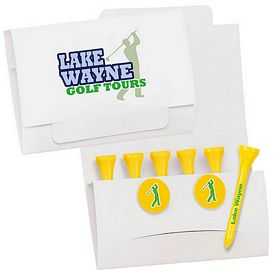 Promotional 6-2 Golf Tee Packet 2-1/8 Tee