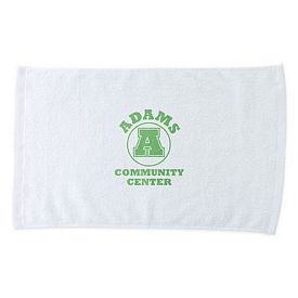 Promotional White Cotton Economy Rally Towel