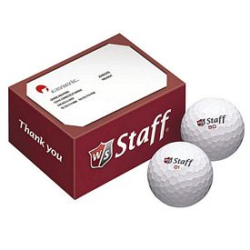 Promotional Wilson 2-Ball Thank You Box