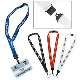 Promotional 3/4-Inch Breakaway Lanyard with Key Ring