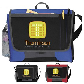 Promotional Atchison Tri-Pocket Flap Messenger Bag
