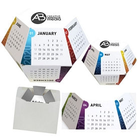 Custom Watercolor Annual Pop-Up Calendar