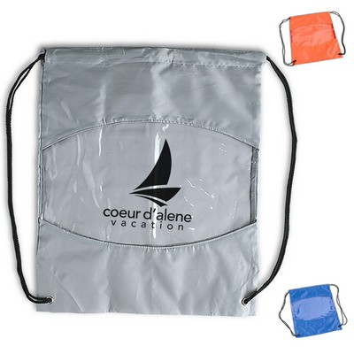 Promotional Clear-View Drawstring Bag