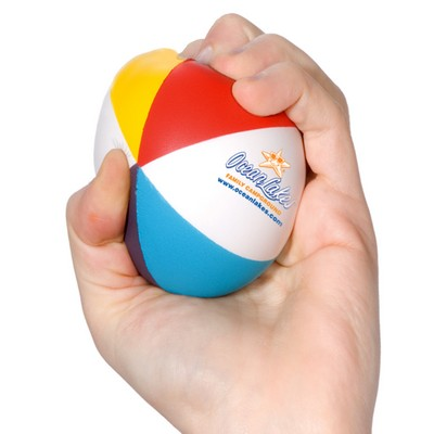 Customized Beach Ball Shaped Stress Reliever