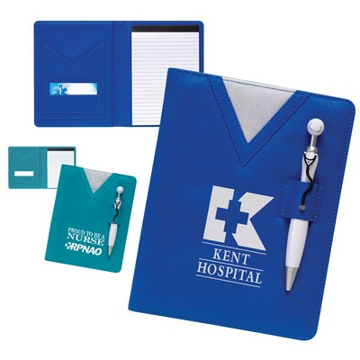Promotional Swanky Scrubs Junior Writing Pad With Stethoscope Pen