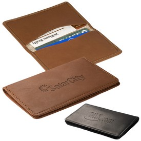 Promotional Leeman Alpine Leather Card Case