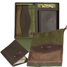 Promotional Leeman Woodbury Golf Pouch Scorecard Set