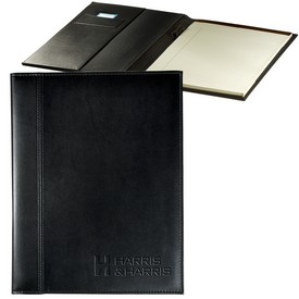 Customized Leeman Brookville Large Faux Leather Portfolio