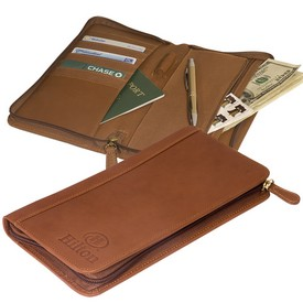 Custom Leeman Hoboken Zip-Around Document Holder