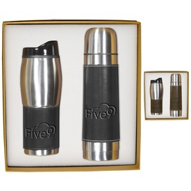 Custom Leeman Empire Thermal Bottle Tumbler Gift Set