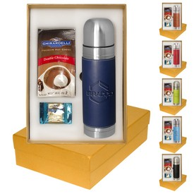 Custom Tuscany Thermal Bottle Ghirardelli Deluxe Gift Set