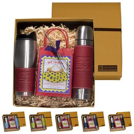 Custom Leeman Tuscany Tumbler Thermal Bottle Decadent Cocoa Set