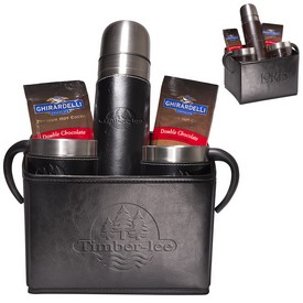 Promotional Leeman Empire Thermal Bottle Cups Ghirardelli Cocoa Set