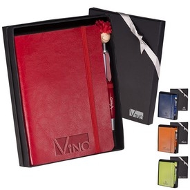 Promotional Leeman Venezia Carnivale Journal Moptopper Stylus Pen Set