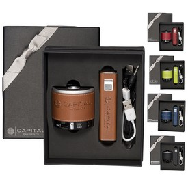 Promotional Tuscany Power Bank Bluetooth Speaker Gift Set