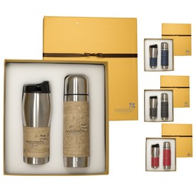 Promotional Casablanca Thermal Bottle Tumbler Gift Set